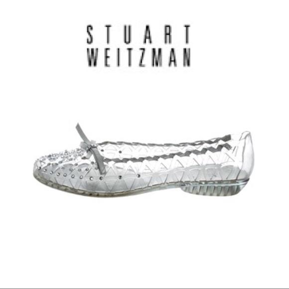 8923b01770a6e Stuart Weitzman Jelly Flat Swarovski Crystals Sz 7.  M 5a7bd16b05f4302daeb6e54b